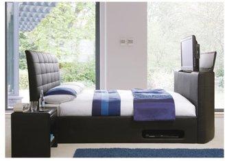 Excellent Faux Leather Bed Frame Shopstyle Uk Dailytribune Chair Design For Home Dailytribuneorg