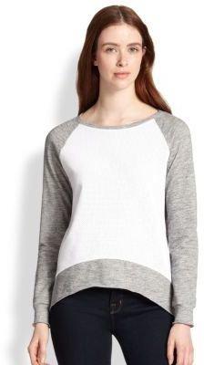 Generation Love Emma Perforated-Front Sweatshirt