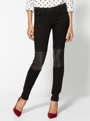 J Brand Beatnik With Leather Jeans