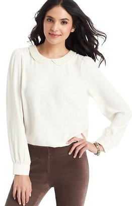 LOFT Pearlized Collar Blouse