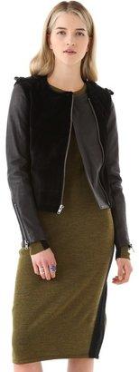 A.L.C. Sadie Fur & Leather Jacket