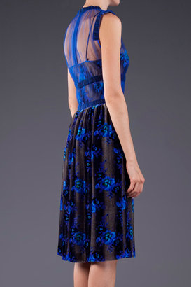 Christopher Kane Velvet Sheer Dress