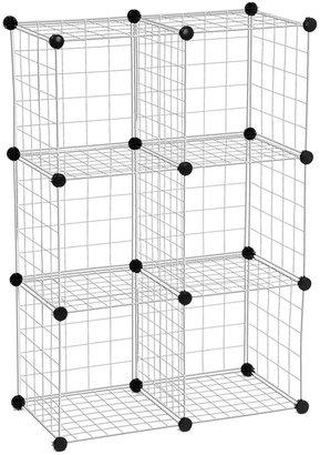 Honey-Can-Do Modular Mesh Storage Cubes, 6 Pack