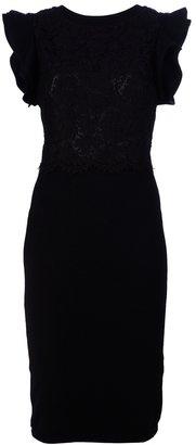 Valentino Structured shoulder dress
