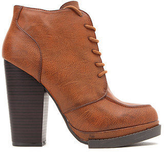 Qupid Ponder Lace Up Booties