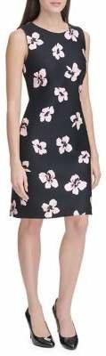 Tommy Hilfiger Collegiate Floral Scuba Sheath Dress
