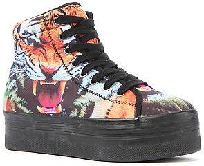 Jeffrey Campbell The HIYA Sneaker in Tiger Print