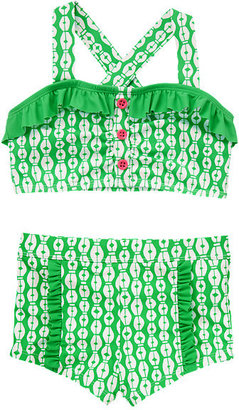 Gymboree Geometric Ruffle Two-Piece Swimsuit