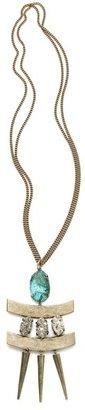 Citrine by the Stones Toltec Pendant Necklace