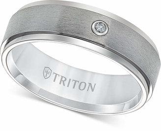 Triton Men Titanium Ring, 7mm Diamond Accent Wedding Band