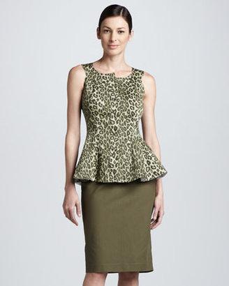 Lafayette 148 New York Modern Slim Skirt, Kale