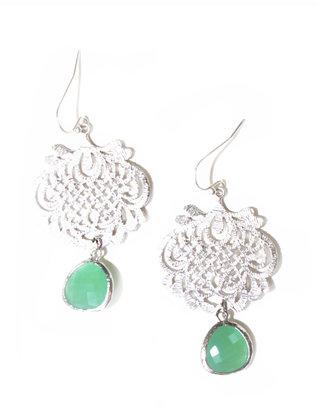 LaBelle Moon Silver Funky Charm Earrings
