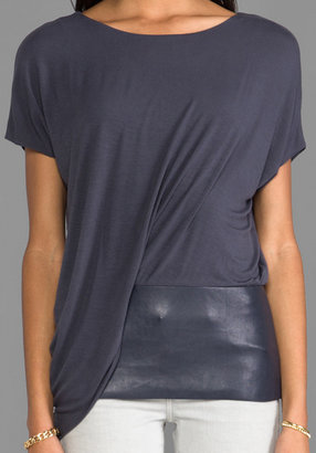 Bailey 44 Connectivity Leather Detail Top