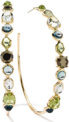 Ippolita 18k Rock Candy Gelato Multi-Stone Hoop Earrings