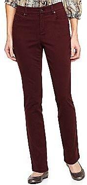 Liz Claiborne Slim Straight-Leg Jeans