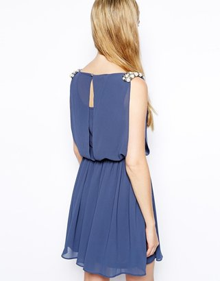 Lovestruck Wrenona Dress with Pearl Cluster Detail