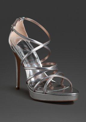 Bebe Chivon Strappy Metallic Sandal