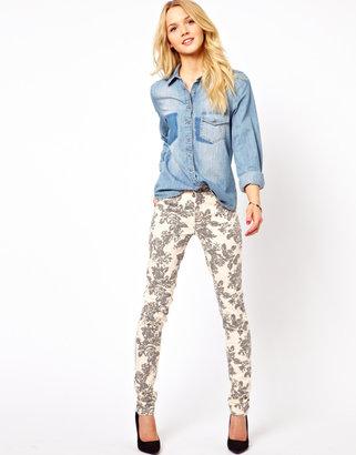 Vila Floral Skinny Jean