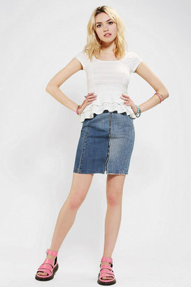 Urban Outfitters Rag Union X Urban Renewal Pieced Denim Skirt