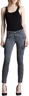 J Brand Jeans Grayson Vintage Black Skinny Cargo Pants
