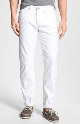 AG Jeans 'Protégé' Straight Leg Jeans (White) $168 thestylecure.com