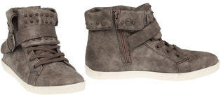 Sugar Oreo Fashion Studded Distressed Sneaker