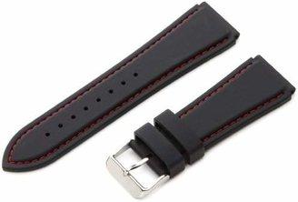 Hadley Roma Hadley-Roma Men's MS3345RQ 240 24mm Genuine Silicone Diver Sport Watch Strap