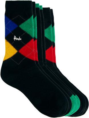 Pringle Argyle 3-Pack Socks