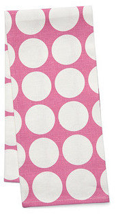 Just Dots Tea Towel, Raspberry