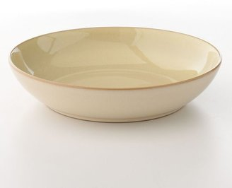 Denby fire cream & yellow individual pasta bowl