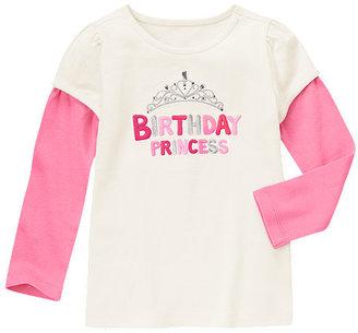 Gymboree Gem Birthday Princess Double Sleeve Tee