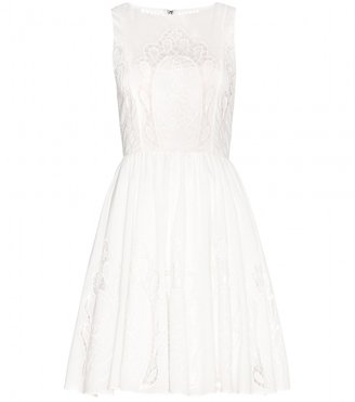 Alice + Olivia Vinny embroidered cutout cotton dress