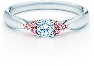 Tiffany & Co. Harmony™:Fancy Pink Diamond Side Stone Ring