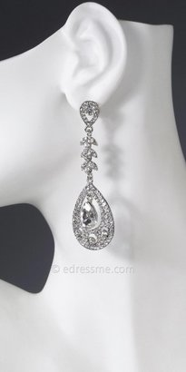 Crystal drop inset chandelier