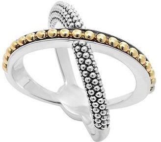 Women's Lagos 'Enso' Caviar Crossover Ring $375 thestylecure.com