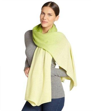 Magaschoni yellow sapphire and peridot cashmere shawl