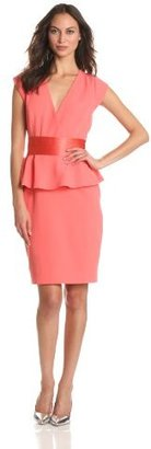 Erin Fetherston ERIN Women's Cap Sleeved Wrap Dress With Peplum