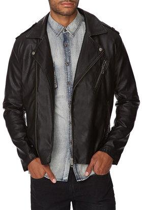21men 21 MEN Faux Leather Moto Jacket