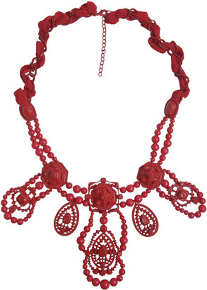 Arden B Bead and Filigree Statement Necklace