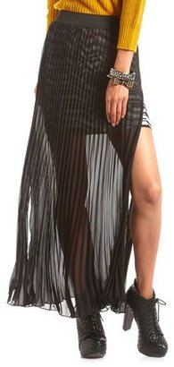 Charlotte Russe Pleated Tribal Maxi Skirt