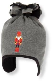 Janie and Jack Nutcracker Microfleece Earflap Hat