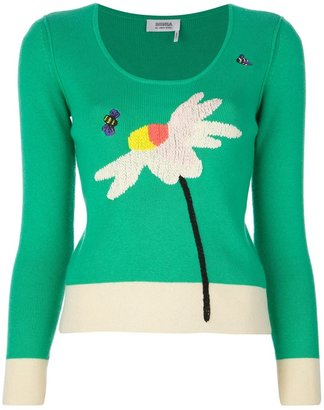 Sonia Rykiel Sonia By contrast print sweater