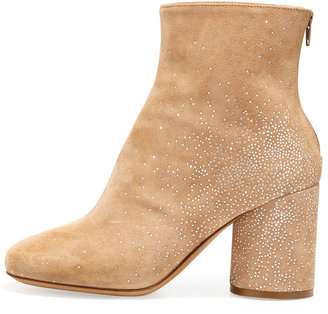 Maison Martin Margiela Suede Sparkle Ankle Boots, Flesh