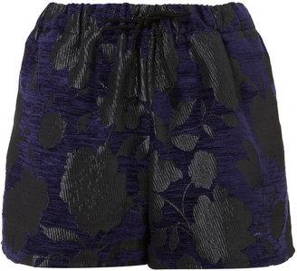 Boutique Chenille Flower Shorts