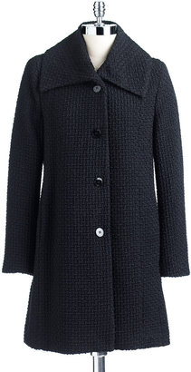 Calvin Klein Wing Collar Swing Boucle Coat