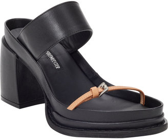 Ann Demeulemeester Wide-Band Platform Sandals