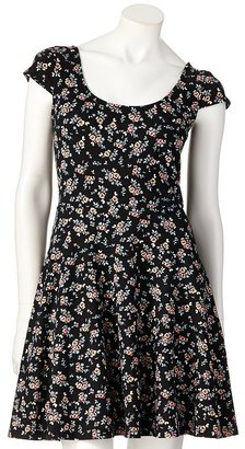 Lauren Conrad floral fit and flare dress