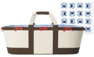 Sausalito Moses Basket Chocolate/Blue Crab Sheet