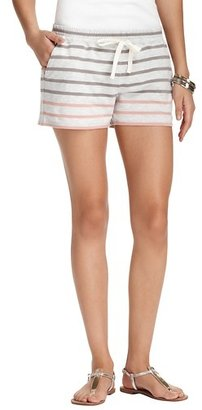 """LOFT Striped Terry Drawstring Shorts with 3 1/2"""" Inseam"""