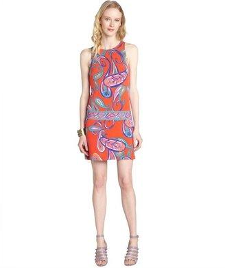 Ali Ro bright orange print stretch jersey sleeveless dress